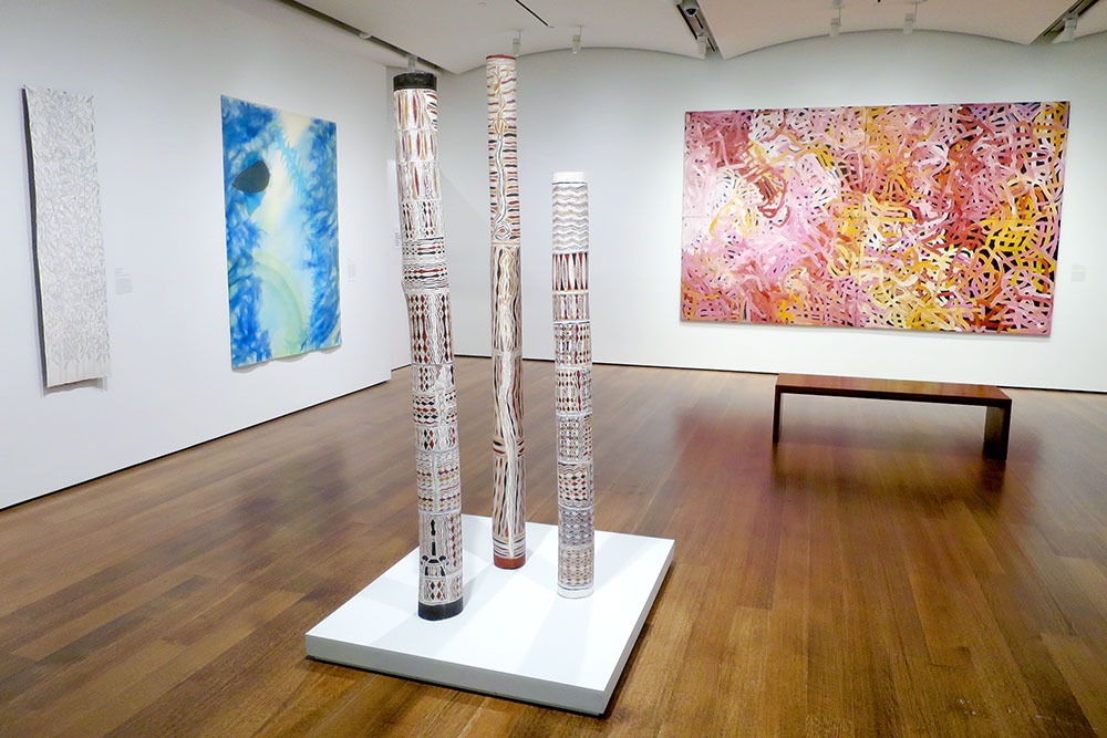 Aboriginal paintings and sculptures from Australia on display at the Harvard Art Museums