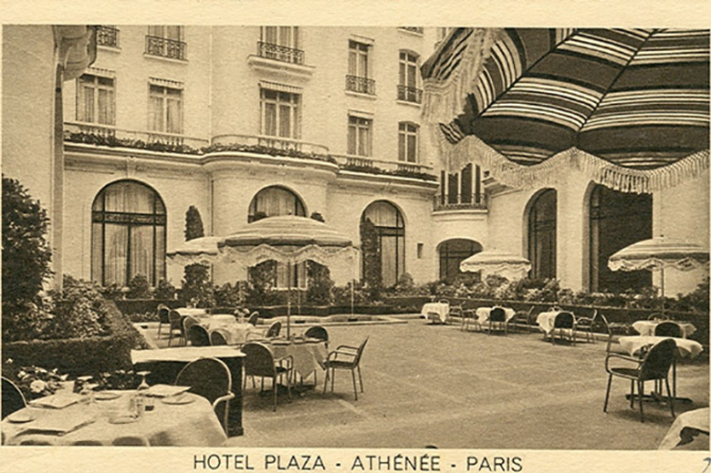 Vintage Photographs From Hôtel Plaza Athénée Paris