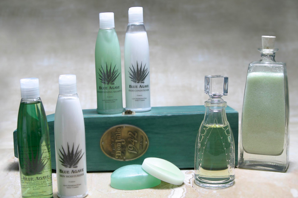 The Blue Agave line of products by Lady Primrose exclusively for the One&Only Palmilla