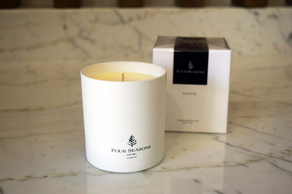 The Hill Country Fig Essence candle from the Four Seasons Austin