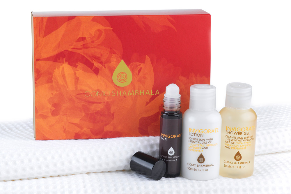 A few of the Invigorate Essentials collection from COMO Hotels