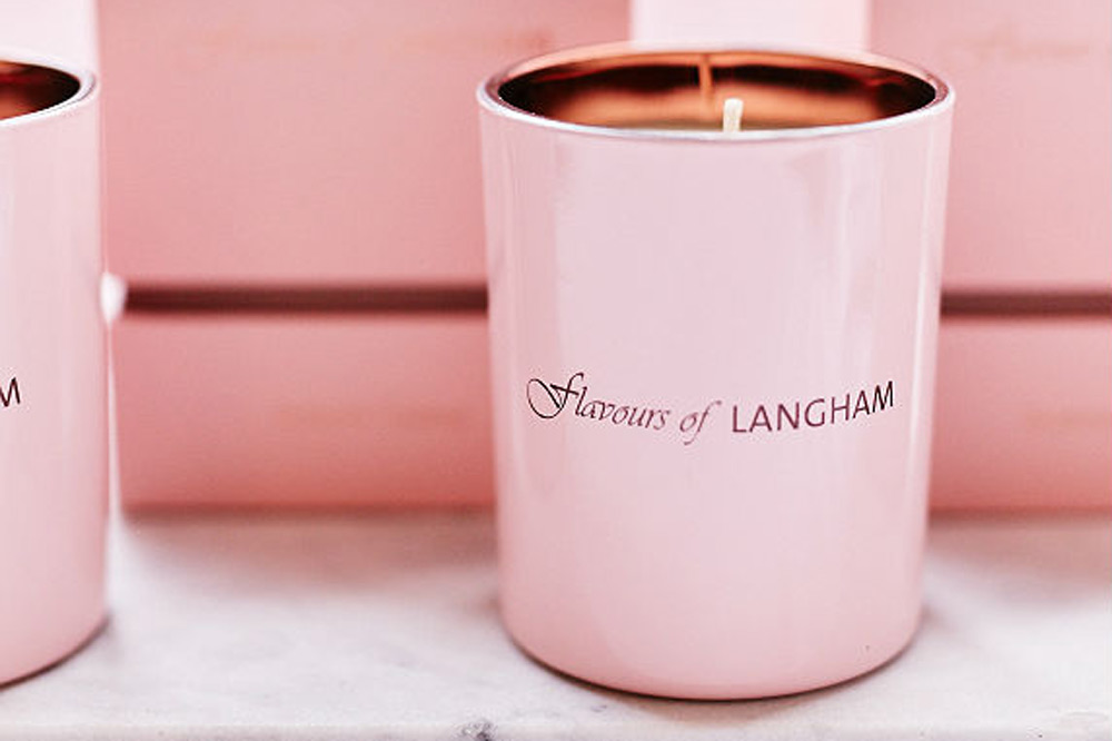 The Ginger Flower candle featured at Langham Hotels