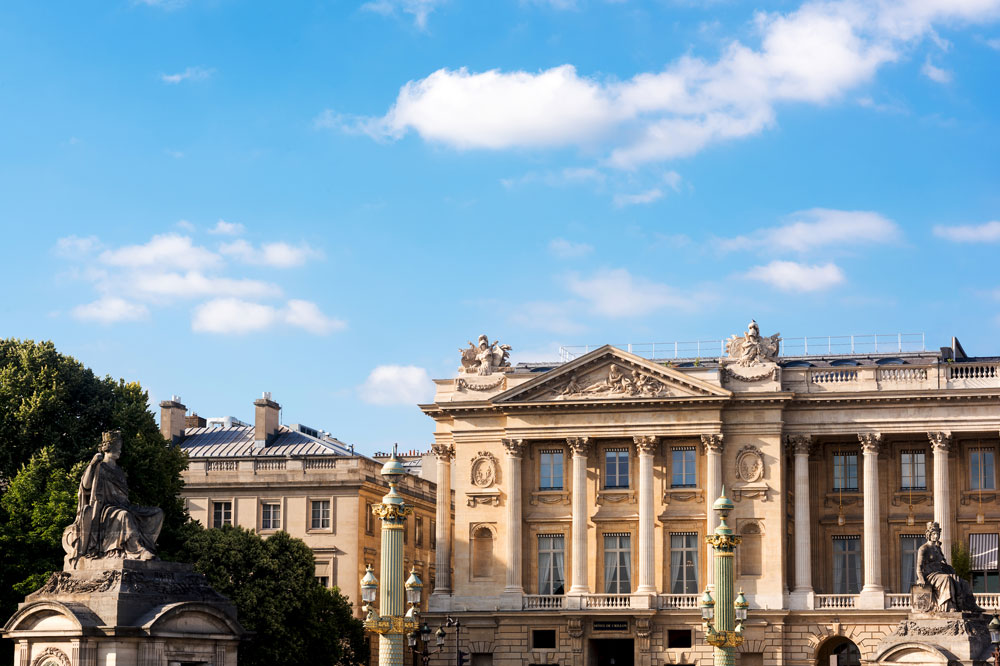 Colonnaded facade of the Hôtel de Crillon