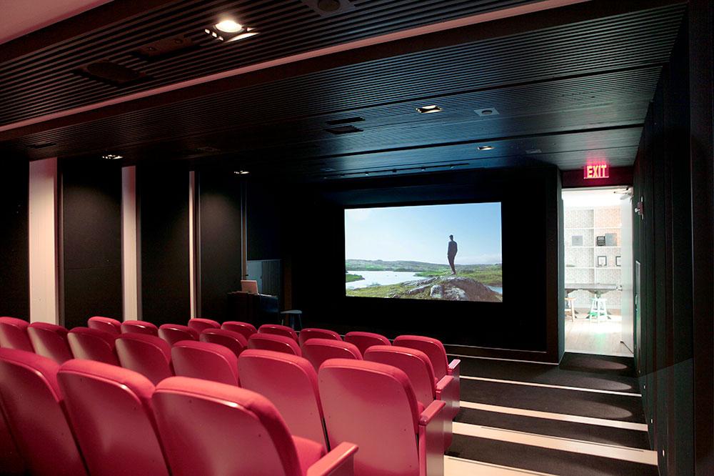 The cinema at Fogo Island Inn in Newfoundland, Canada