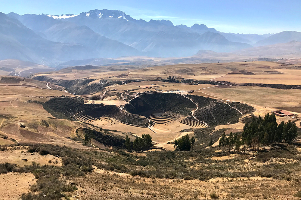 Inca terraces in the Sacred Valley, Peru