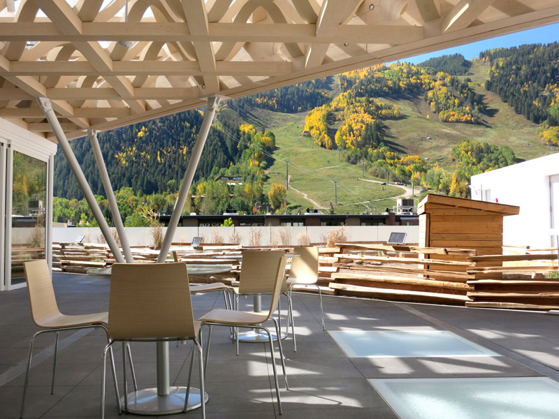 The Mountainview Roof Terrace At The Aspen Art Museum   Photo By Andrew  Harper