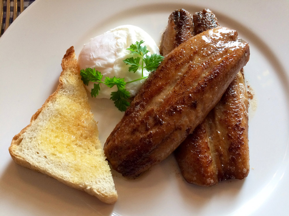 Ballymaloe House sausage breakfast