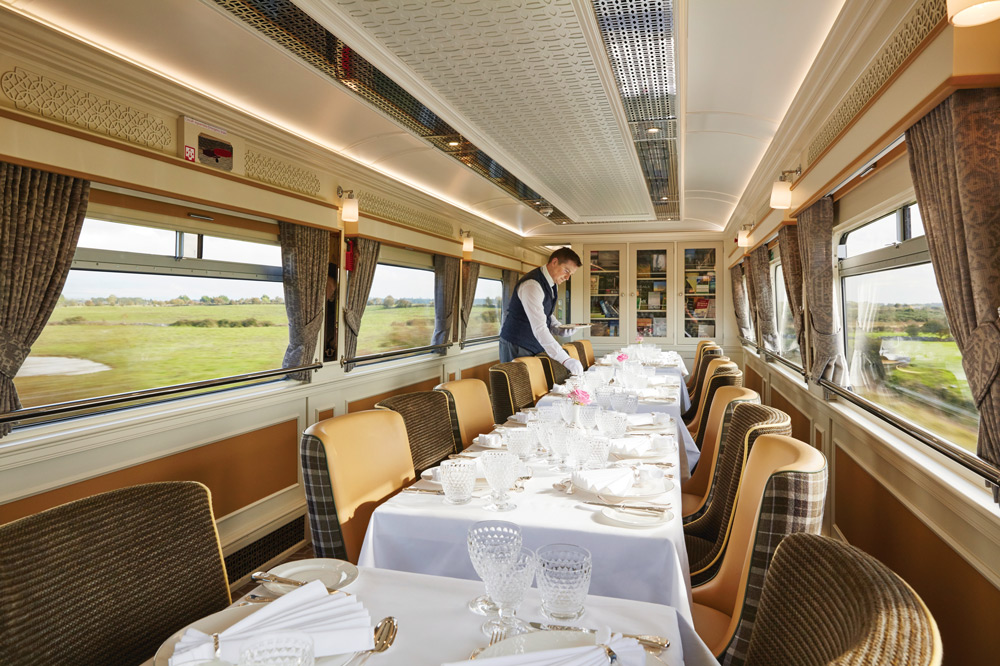 Dining car on the Belmond Grand Hibernian