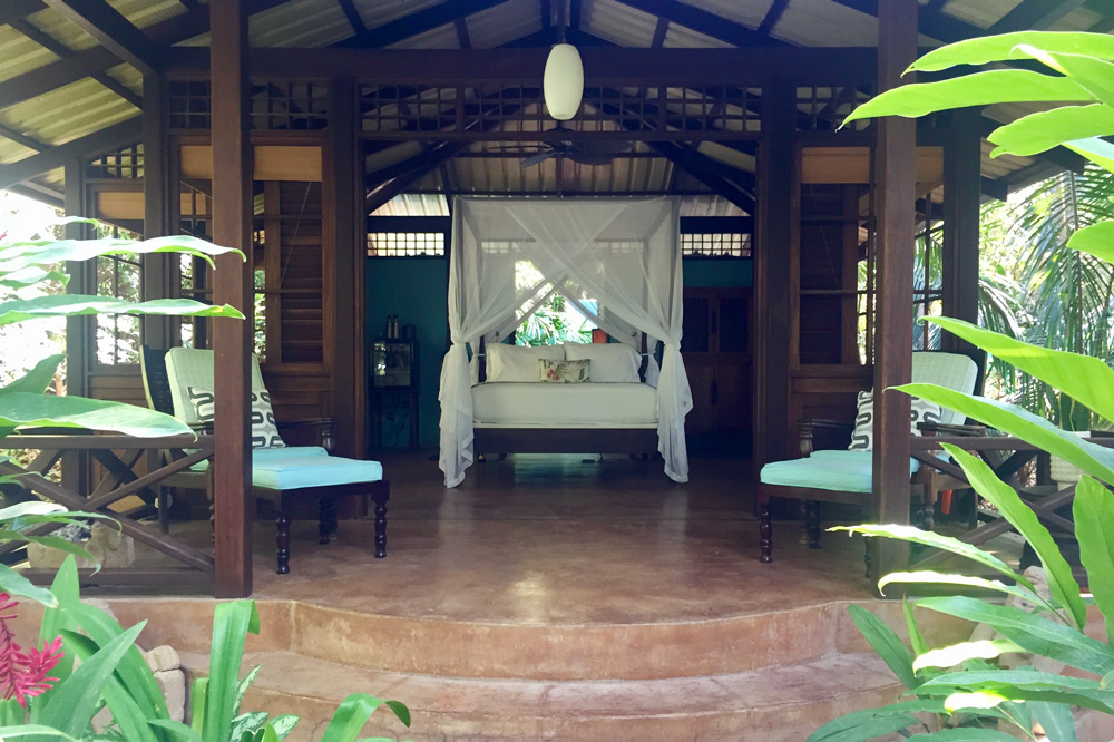 Our open-air bungalow at Latitude 10