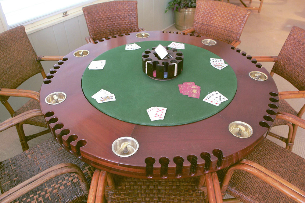 A poker table made for the president at the Truman Little White House in Key West, Florida - John Penney/ Truman Little White House Collection