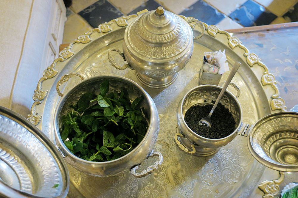 The ingredients for mint tea at La Sultana Marrakech