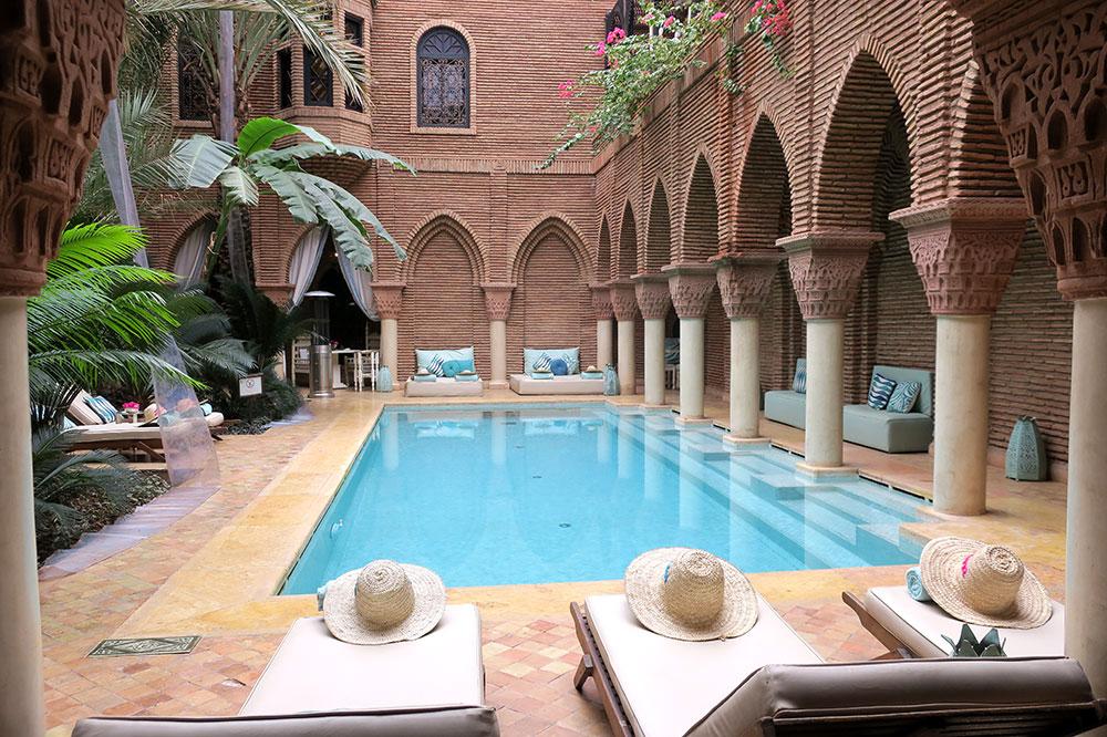 The pool at La Sultana Marrakech