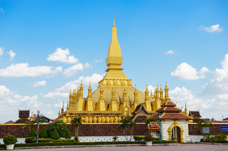 That Luang temple in Vientiane, Laos