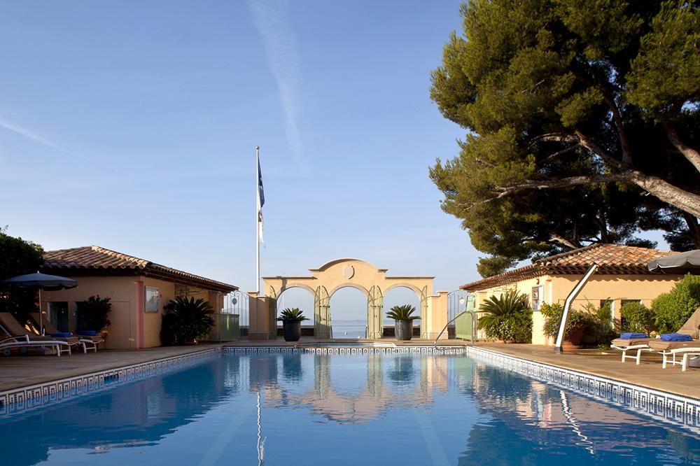The pool at Le Club de Cavalière & Spa in Le Lavandou, France