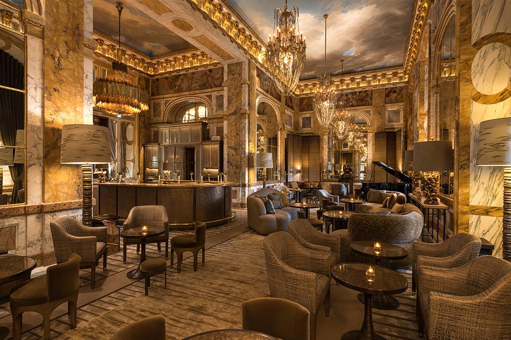 <em>Les Ambassadeurs</em> bar at Hôtel de Crillon in Paris, France