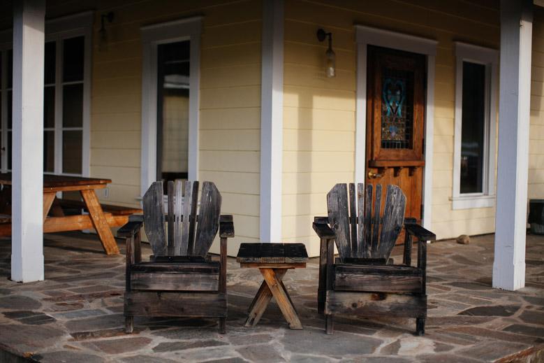 The porch at the Lichen Estate in Boonville, California