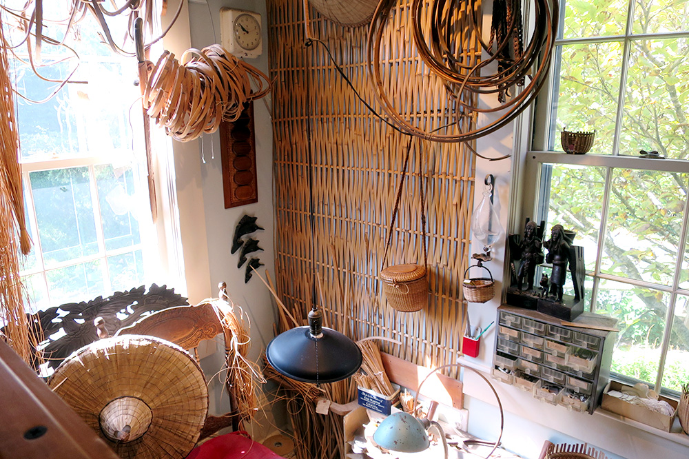 The interior of the Nantucket Lightship Basket Museum=