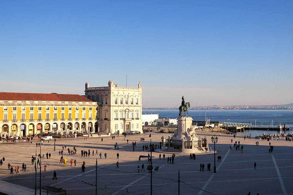 View of the Praça do Comércio from our Deluxe Room at Pousada de Lisboa, Lisbon, Portugal