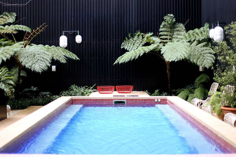 Indoor pool at the Valverde Hotel