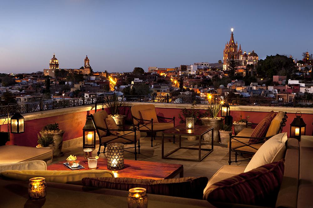 <em>Luna Rooftop Tapas Bar</em> at Rosewood San Miguel de Allende