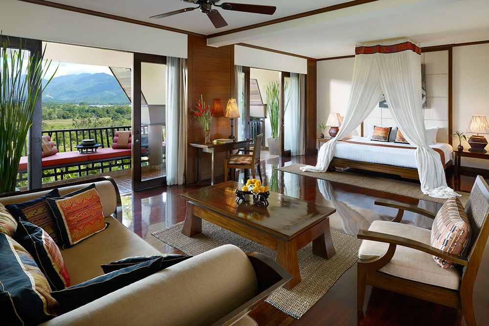 Three Country View Family Suite at Anantara Golden Triangle Elephant Camp & Resort