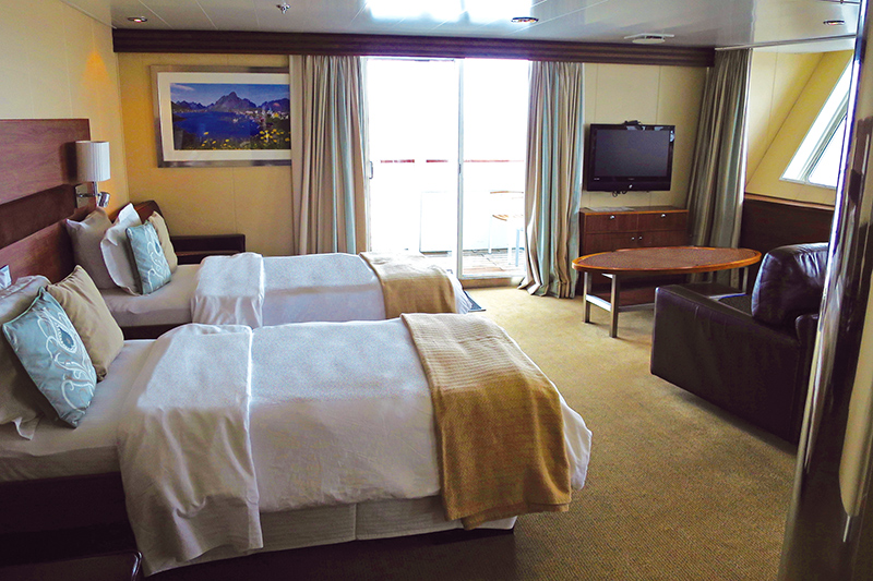 Suite interior on board the Explorer