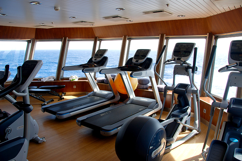 Fitness center on board the Explorer