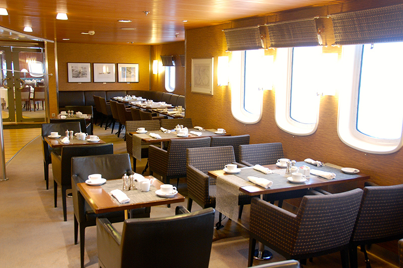 Dining room of the Explorer