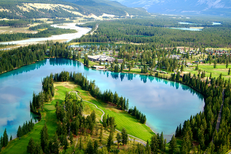 Fairmont Jasper Park Lodge overlooks Lac Beauvert