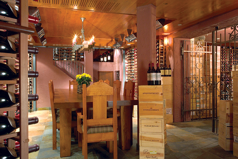 Wine cellar at Post Hotel & Spa