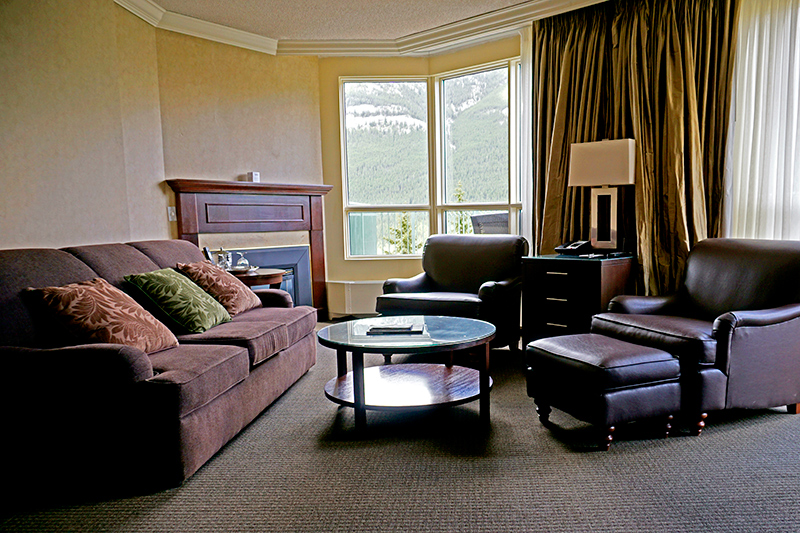 Sitting room in our GrandView One-Bedroom Suite at The Rimrock Resort Hotel