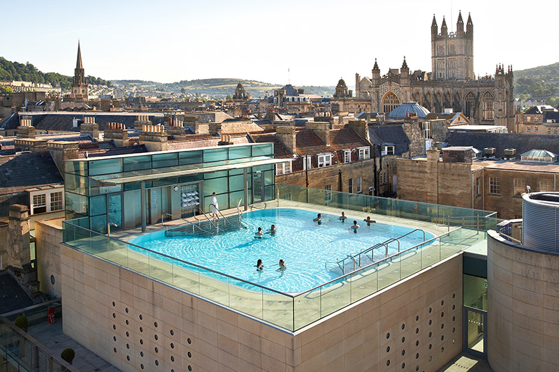 Bon Open Air Rooftop Pool At Thermae Bath Spa   © Philip Edwards