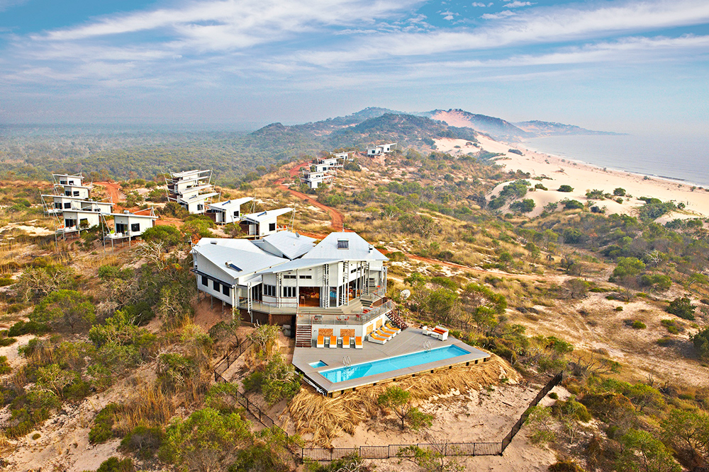 The Berkeley River Lodge is located on the towering sand dunes of the Kimberley, Australia