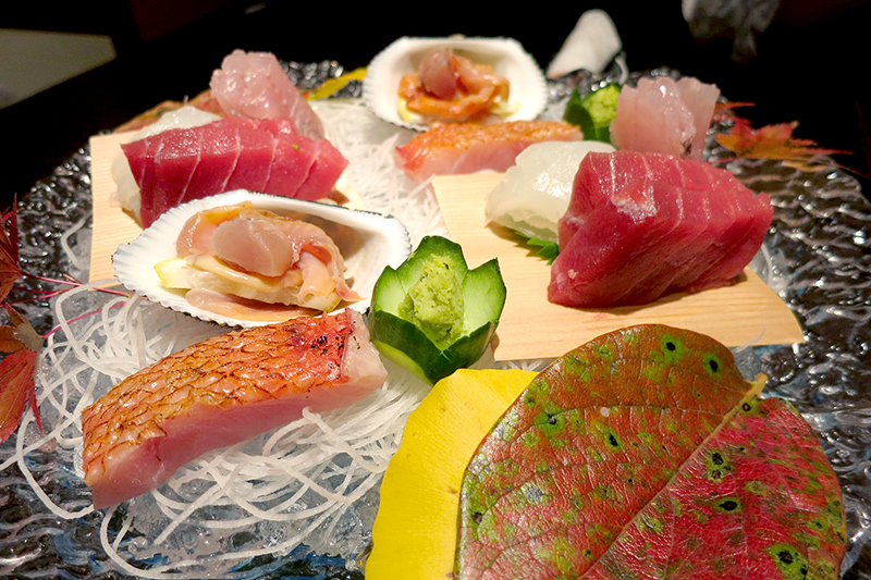 Our sashimi dinner at Hakone-Ginyu - Photo by Andrew Harper