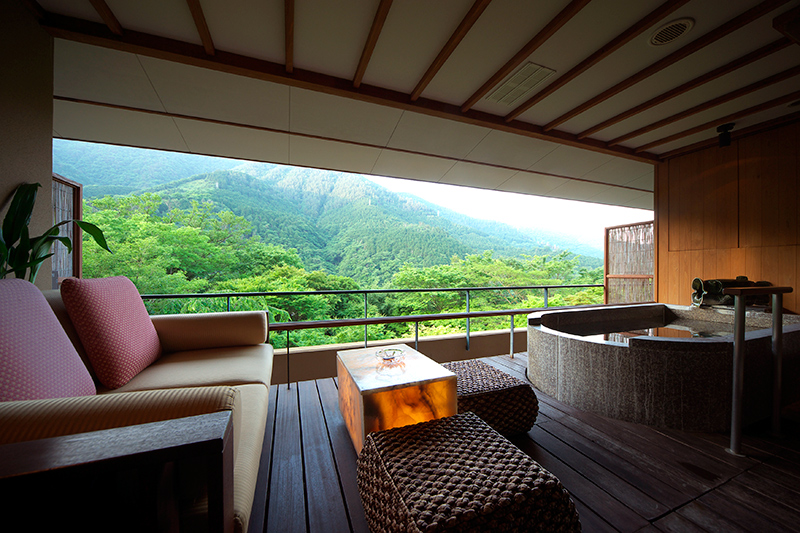 Private deck and onsen at Hakone-Ginyu - Photo by The Ryokan Collection