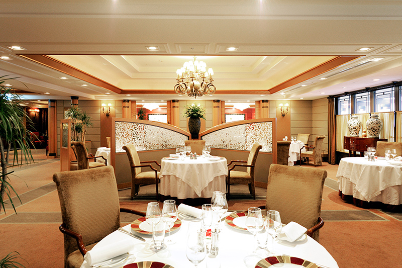 <i>Les Saisons</i> dining room at the Imperial Hotel Tokyo