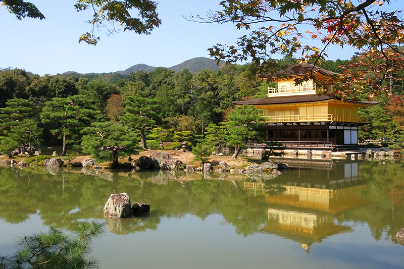 Kinkaku-ji (the Temple of the Golden Pavilion) is one of 17 UNESCO World Heritage sites in Kyoto - Photo by Andrew Harper