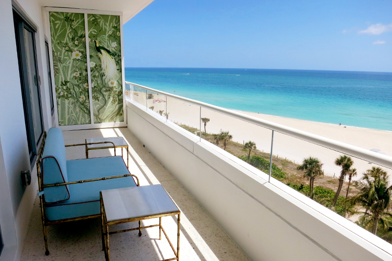 View from the balcony of our Ocean View Junior Suite at the Faena Hotel