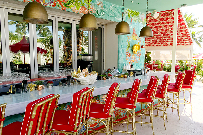 Pool bar at the Faena Hotel