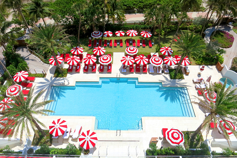 Swimming pool at the Faena Hotel