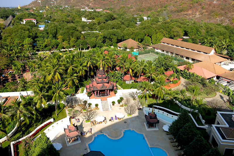 View from our Executive Suite at Mandalay Hill Resort Hotel - Photo by Andrew Harper