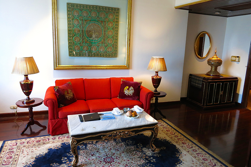 Living room in our Executive Suite at Mandalay Hill Resort Hotel - Photo by Andrew Harper