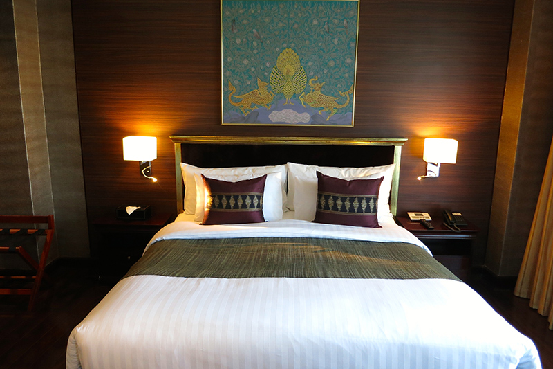 Bedroom in our Executive Suite at Mandalay Hill Resort Hotel - Photo by Andrew Harper