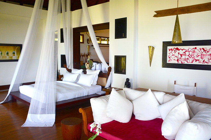 Bedroom in our Villa at Ngapali Bay Villas & Spa - Photo by Andrew Harper
