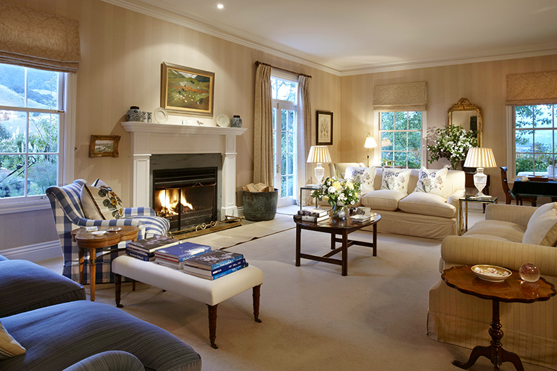 Large sitting room in main house at Edenhouse