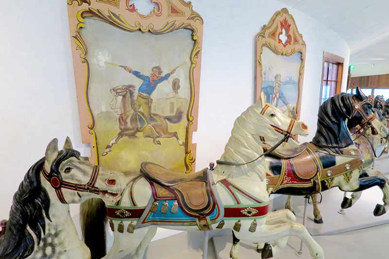 Hand-painted carousel figures at the Shelburne Museum - Photo by Andrew Harper