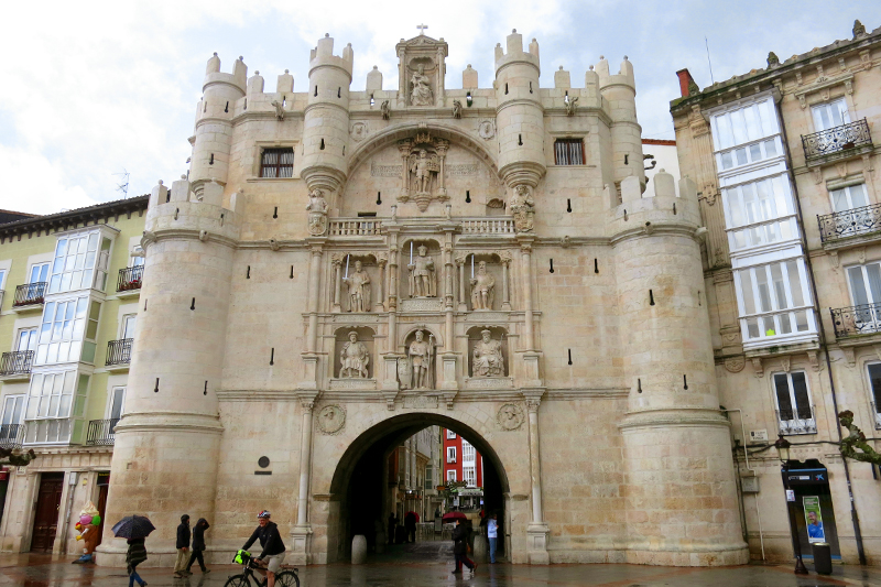 City gate in the old walls of Burgos