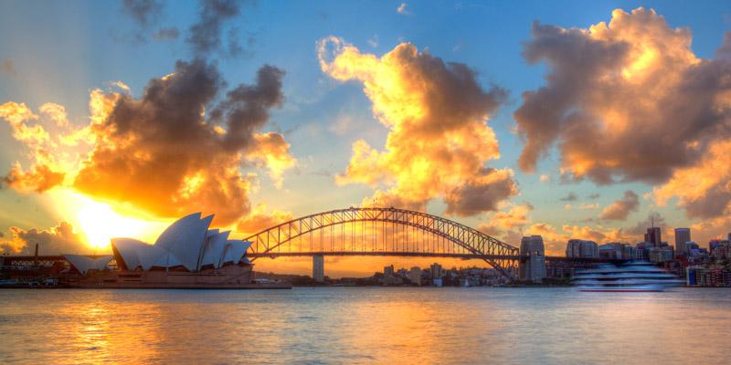 Sydney Harbor at sunset