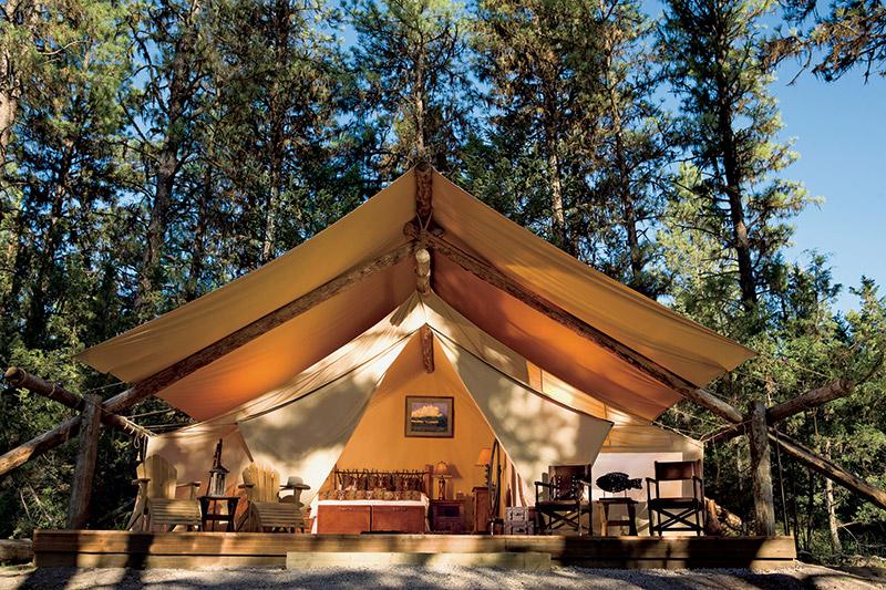 River Camp tent exterior