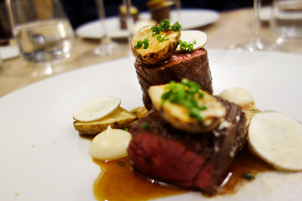 Beef and potatoes from <em>Le Passe Temps</em>